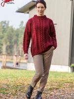 91495 - Oversize tröja med flätor