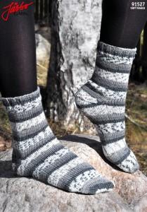 91527 - Stretchiga sockor med Afterthought Heel