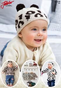 91539 - Babyplagg med djurmönster