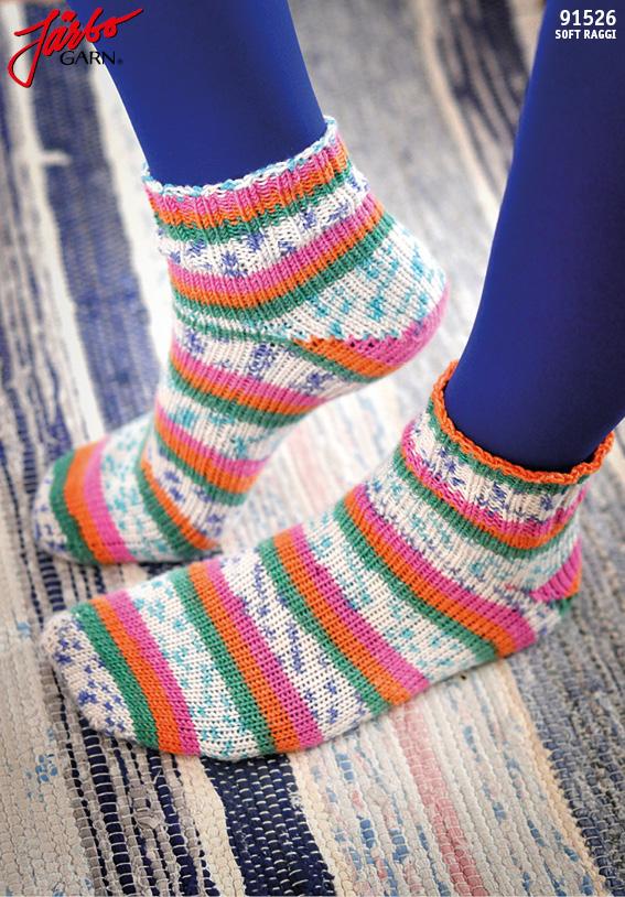 91526: Tå-upp-sockor med Magic Loop-teknik