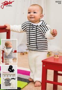 91532: Byxa och randig hoodie till baby
