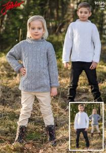 91595: Tröja med fint flätmönster till barn