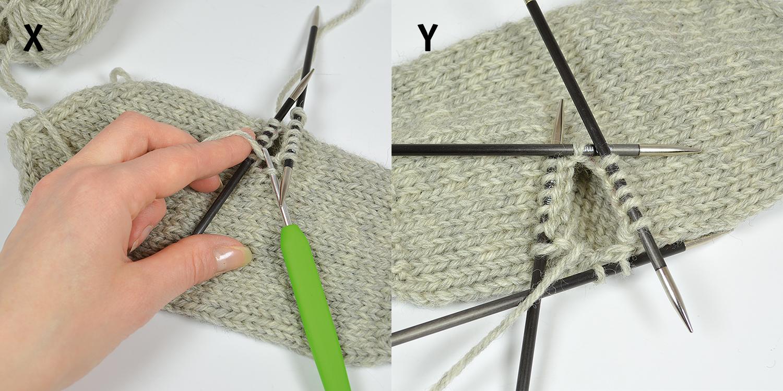 sticka vantar med mönster